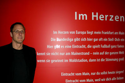 """""""Im Herzen der Eintracht"""": Matze Thoma, Leiter des Eintracht-Museums (Foto: M.Kneifl)"""