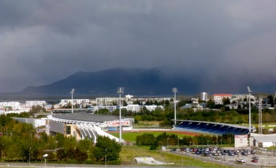 Islands Nationalstadion Laugardalsvöllur in Reykjavík (Bild: M. Hubert)