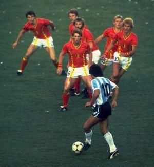 Maradona gegen Belgien_twitter-Bild