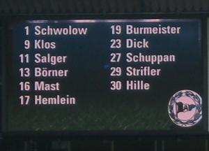 Die Startaufstellung der Arminia gegen Fortuna Köln. (Quelle: Kickschuh-Blog)