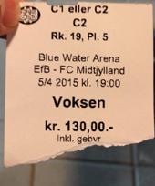 Eintrittsticket Efb-Midtjylland