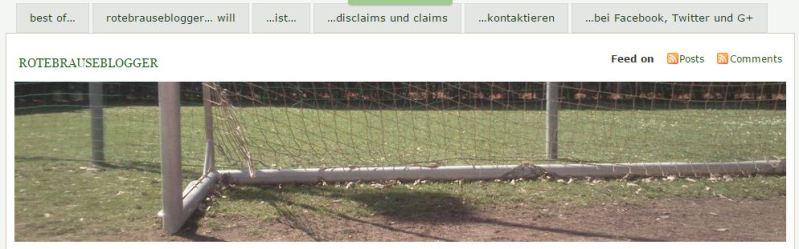 Screenshot der Einstiegsseite www.rotebrauseblogger.de